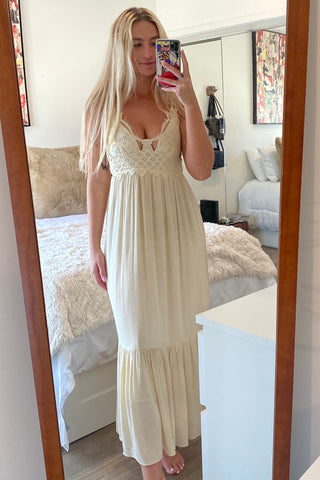 Camellia Crochet Maxi Dress