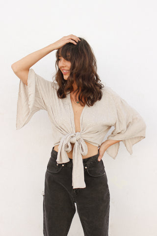 Fly With Me Wrap Top