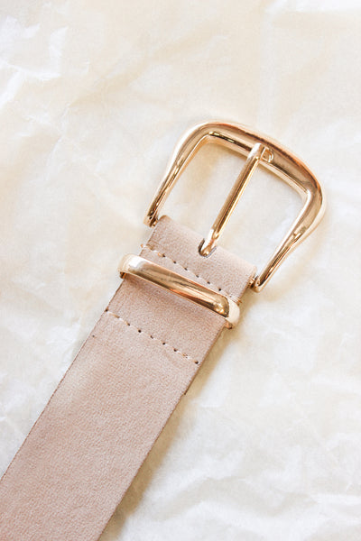 Momentary Bliss Suede Belt In Tan