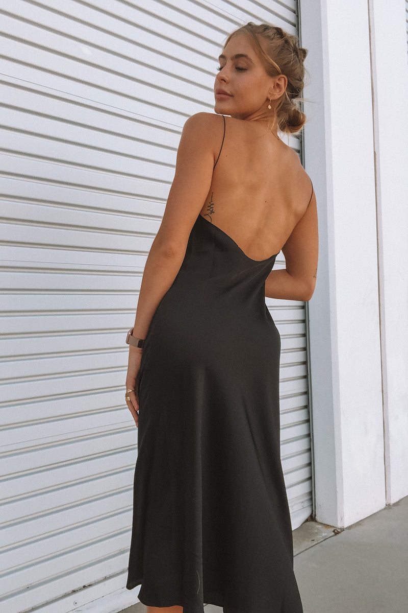 Low back detail for a flattering look.