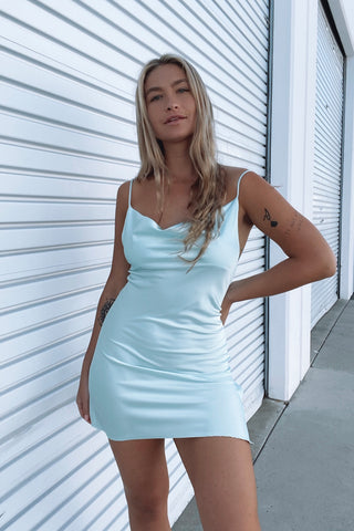 Native Daughters Monica Satin Mini Dress