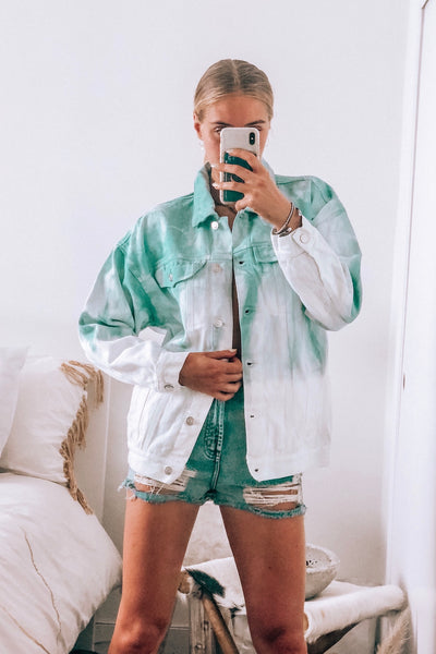 Cool Out Tie Dye Denim Jacket