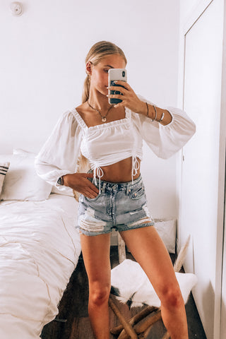 Venice Cinched Crop Top
