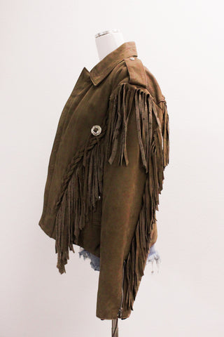 Jetsetter Leather Fringe Jacket