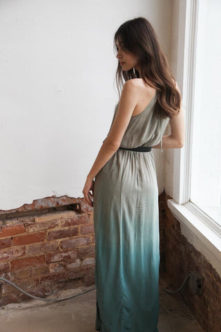 Blue Life 2 Slit Halter Dress