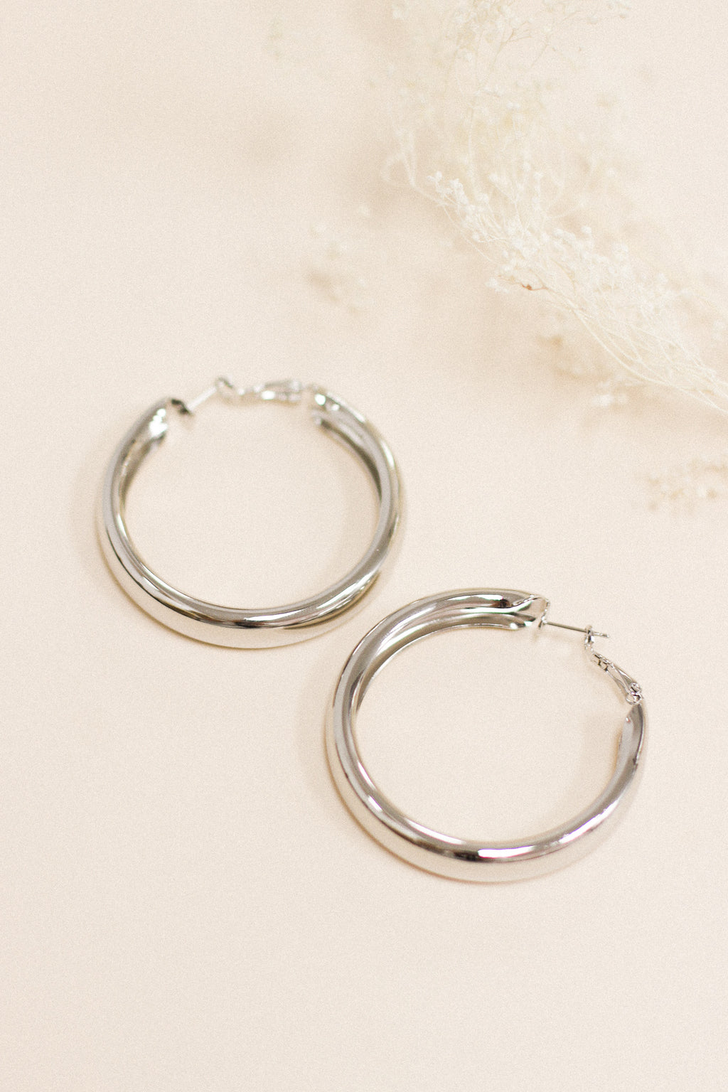 So Lovely Large Hoop Earrings