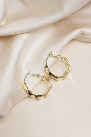 Renee Twist Hoop Earrings