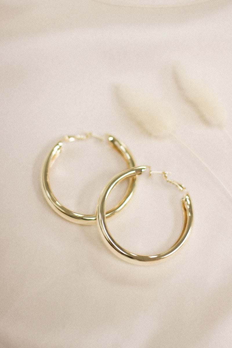 Destiny Large Hoop Earrings