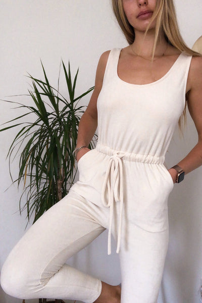 Good Vibes Velour Jumpsuit