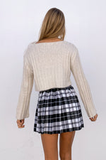 The back of this pleated tennis skirt with a relaxed fit.