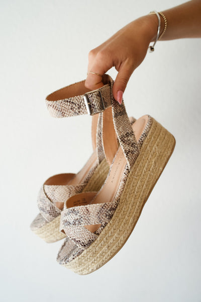 Chinese Laundry Zala Snake Wedge Sandal