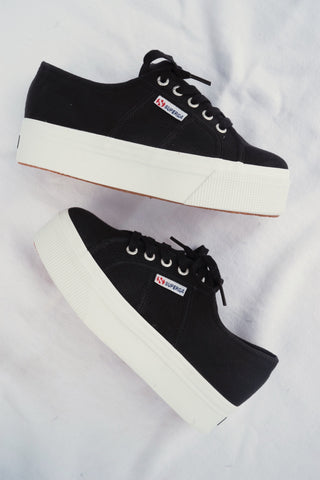 Superga ACOTW Linea Up And Down Sneakers In Black