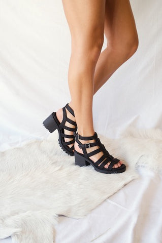 Chinese Laundry Fun Stuff Caged Block Heels