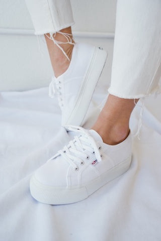 Superga ACOTW Linea Up And Down Sneakers In White