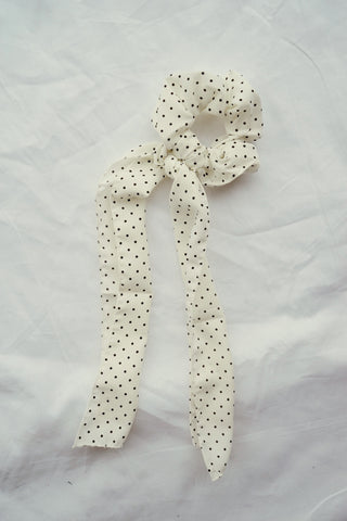 Kiera Polka Dot Bow Tie Scrunchie