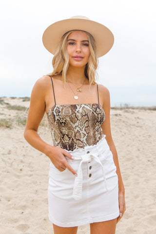Native Daughters Snakeskin Bodysuit