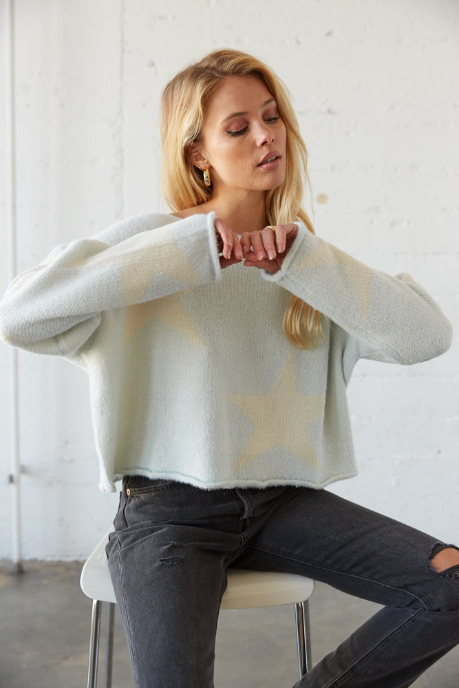 Mariah Star Crop Knit Sweater