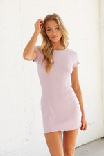 Light purple mini dress.