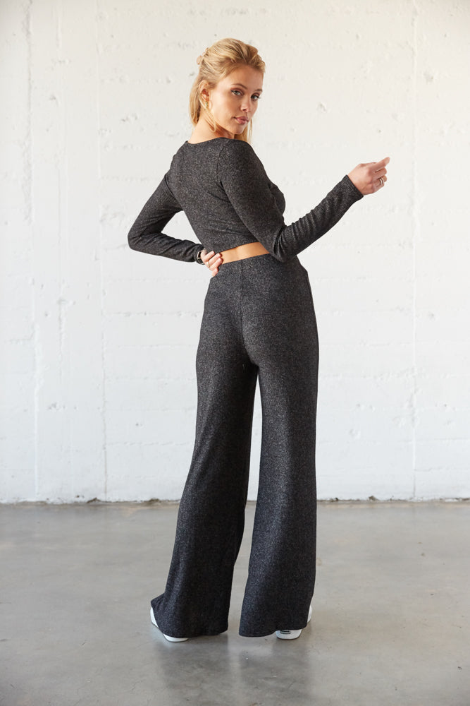 The back of these pants are relaxed for a flattering fit.