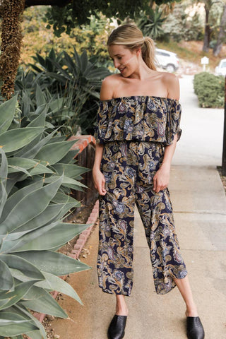 Electric Living Paisley Jumpsuit