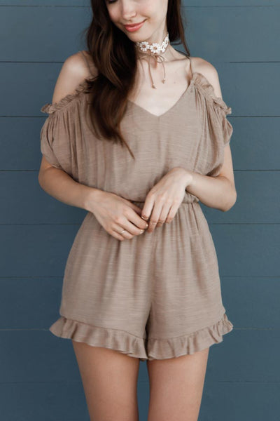 Sahara Cold Shoulder Romper