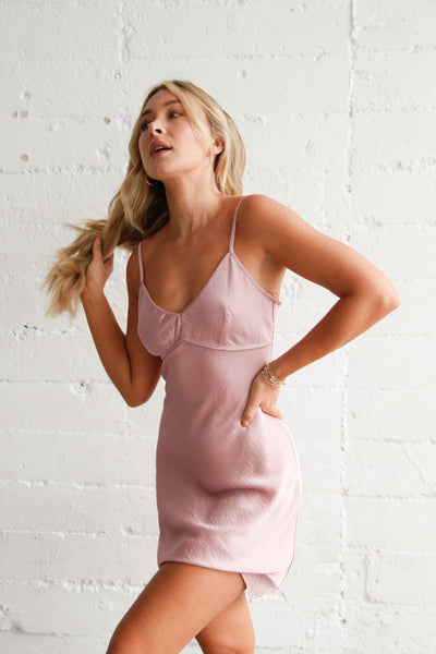 La Vie En Rose Slip Dress