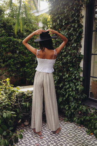 Southern Sun Striped Linen Pants