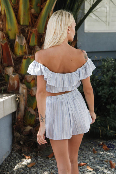 Gigi Striped Short Set