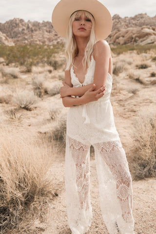 Between Dreams Lace Jumpsuit