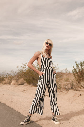 Running Wild Striped Jumpsuit