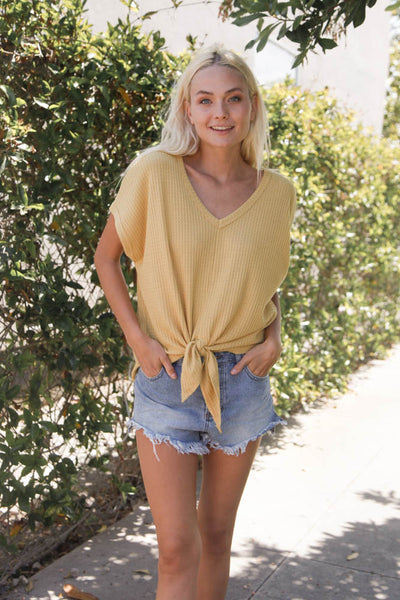 Float On Knit Tie Top