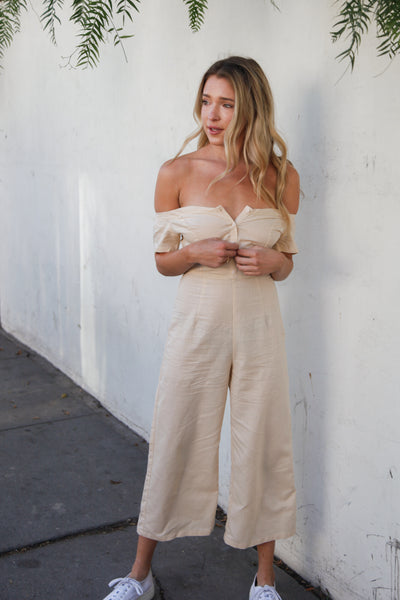 Real Thing Linen Jumpsuit
