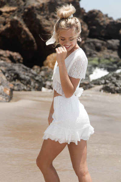 Jana Eyelet Skirt Set