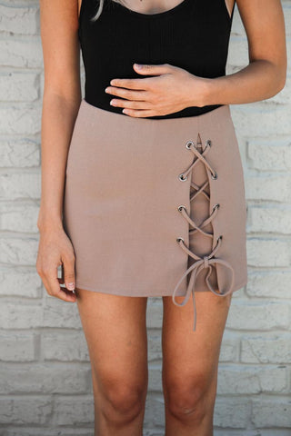 Lovelight Lace Up Skort