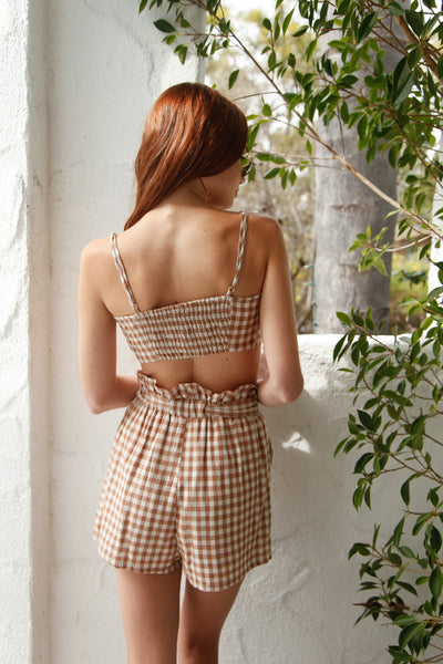 Feel Alive Gingham Short Set