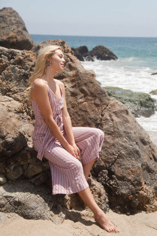 Strawberry Fields Striped Jumpsuit