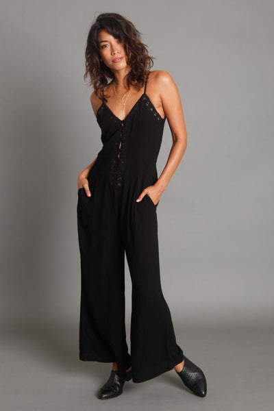 New Lover Embroidered Jumpsuit