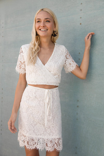 Twirl Me Lace Skirt Set