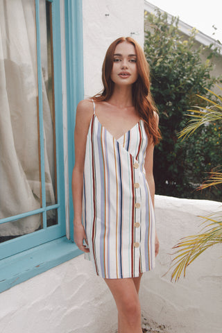 Spell On You Striped Mini Dress