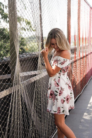 Reverse Jeanie Off Shoulder Dress