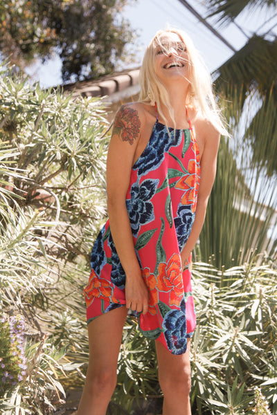 Mumu Katy Halter Dress In Floratopia