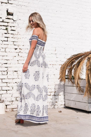 Reverse Allegra Off Shoulder Maxi Dress