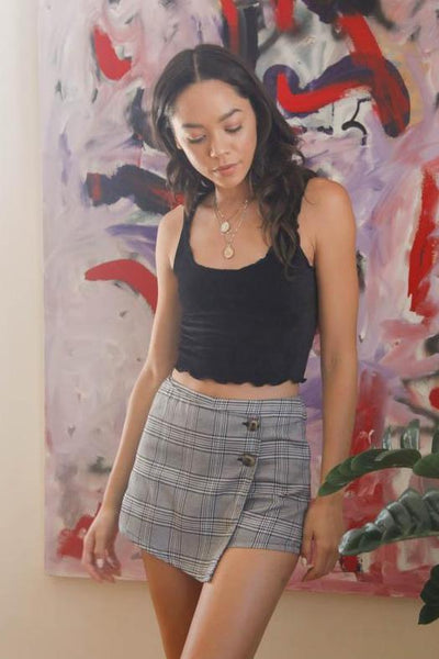 Native Daughters Britney Plaid Envelope Skort