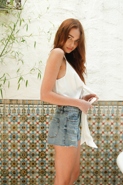 Blank NYC The Barrow Shorts In Top Notch