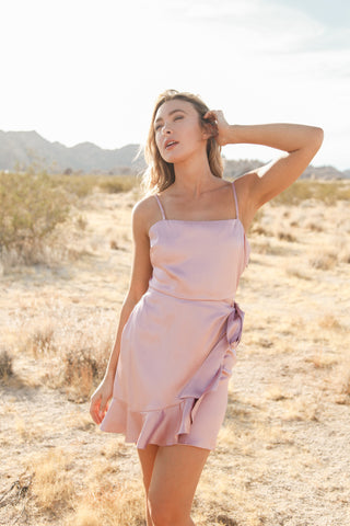 Native Daughters Britney Satin Wrap Dress