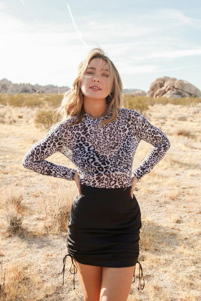 Night Out Mesh Leopard Bodysuit