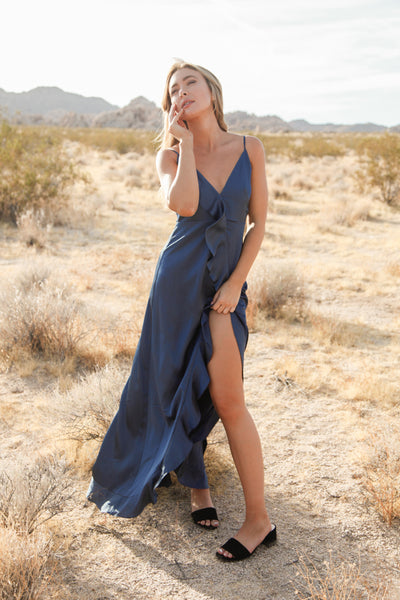 Wonderland Satin Maxi Dress