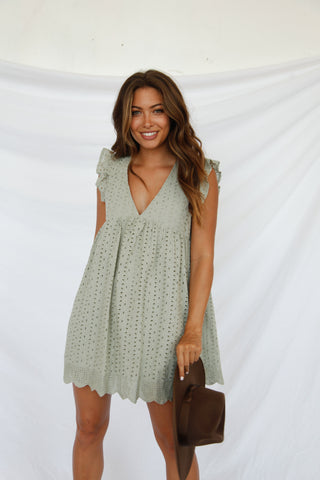 Willow Eyelet Babydoll Romper