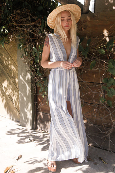 Berkeley Striped Maxi Romper
