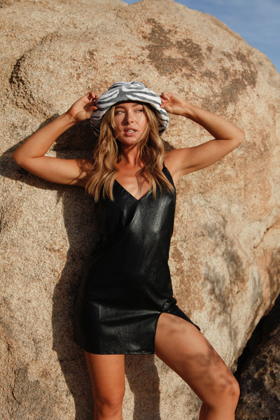 Gigi Vegan Leather Mini Dress
